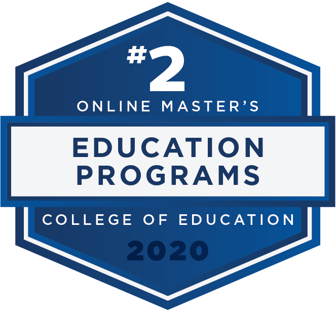 #2 - 2020 Rankings - Online Masters - Education Programs